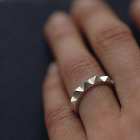 Solid silver Minicyn studded ring by Minicyn on Etsy