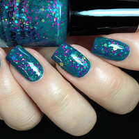 Don't Teal Anyone  Teal Glitter Nail Polish  05 oz by KBShimmer