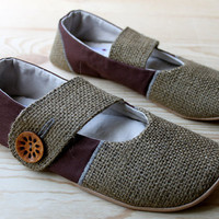 Organic Vegan Shoes- Lotus Mary Jane