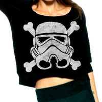 Stormtrooper and Crossbones Cropped Star Wars by repurposefulPUNK