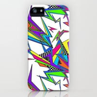 Neon Ka-Pow! (white) iPhone Case by Jacqueline Maldonado | Society6