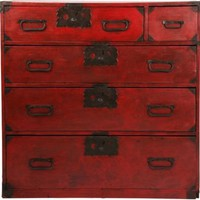 One Kings Lane - Allan Reyes - Antique Red Chinese Cabinet