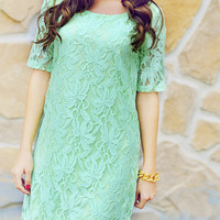 Breath Of Fresh Air Dress: Seafoam | Hope's