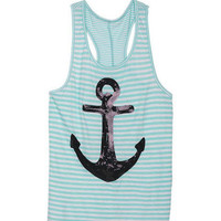 Mint Sequin Anchor