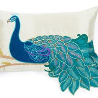 One Kings Lane - Thro by Marlo Lorenz - Fancy Rectangle Peacock Pillow, Multi