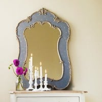Mirror with Acanthus Leaf in Grey Patina