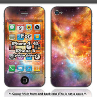 Colorful galaxy skin for IPhone 4, 4s and IPhone 5 (Please choose your model)