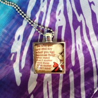 Cat in the Hat Necklace Quote