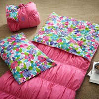 Ruched Sleeping Bag + Pillowcase- Multi Floral