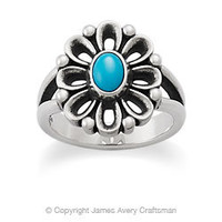 De Flores Ring with Turquoise from James Avery