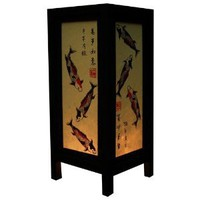 Amazon.com: Handmade Table Lamp Asian Oriental Japan Fish Decor Cheap Price Made From Thailand: Everything Else