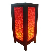 Amazon.com: Handmade Table Lamp Table Lamp Asian Oriental RED ART Decor Cheap Price Made From Thailand: Everything Else