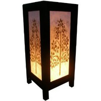 Amazon.com: Handmade Table Lamp Asian Oriental Tree Art Decor Cheap Price Made From Thailand: Everything Else