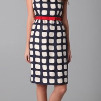 Milly Adrianne Square Print Sheath Dress | SHOPBOP
