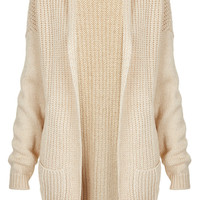 Knitted Mix Stitch Shawl Cardi - Cardigans - Knitwear - Clothing - Topshop