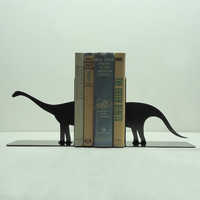 Brontosaurus Bookends Free USA Shipping by KnobCreekMetalArts