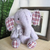 Artist Teddy Elefant Slonya by zverrriki on Etsy