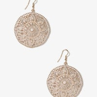 Cutout Floral Circle Earrings | FOREVER 21 - 1041187252