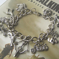 Zombie Jewelry Walking Dead DARYL BRACELET with CHUPACABRA  Zombie Hunter Horror Geekery Charm Bracelet