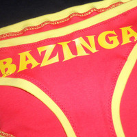 The Flash Bazinga Panties Large Big Bang Red by CherryPiePunk