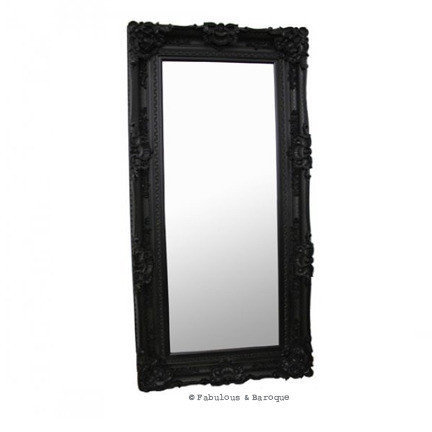 Fabulous & Baroque ? Grand Beau Wall Mirror 6ft x 3ft- Black on Wanelo