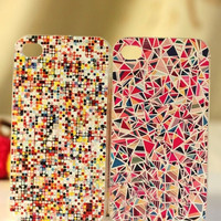 Colourful Mixed Hard Cover Case For Iphone 4/4s/5