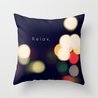 R e l a x Throw Pillow by Dee Reimer