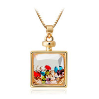 Crystal Wishing Bottle Pendant Necklace