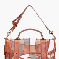 Proenza Schouler Brown Light Patchwork Messenger Bag for women