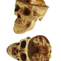 Chocolate Skulls Gone Nuts - Gold