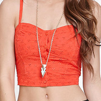 Nollie Button Front Smocked Back Tank at PacSun.com