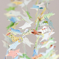 Paper star garland bunting recycled map atlas 12 ft wedding party photo booth spring home decor wall bridal baby shower nursery kids
