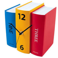COLORFUL BOOK CLOCK