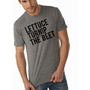 lettuce turnip the beet  heather grey track tee  men's by coup
