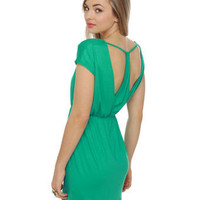Pretty Sea Green Dress - Teal Dress - $35.50