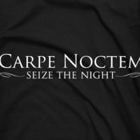 Carpe Noctem Seize the Night gamer RPG tee by TheShirtDudes
