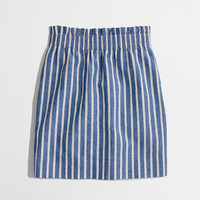 Factory stripe linen-cotton mini