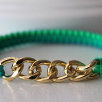 Bright Blue and Green Friendship Bracelet by bumbleberries2012
