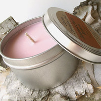 Japanese Cherry Blossom Soy Candle Tin -- 8 ounce Tin