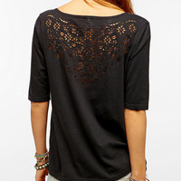 Truly Madly Deeply Laser-Cut V-Neck Tee
