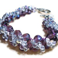 Long and luxurious purple bracelet