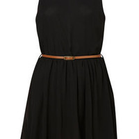 Open Back Skater Dress by Rare** - Dresses  - Clothing  - Topshop