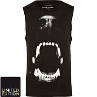 Black dog bite print tank top - tanks - t-shirts / tanks - men