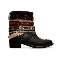 STRAPPY ETHNIC ANKLE BOOT - Shoes - TRF - ZARA United States