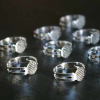 Adjustable Silver Ring Bases 10 pieces