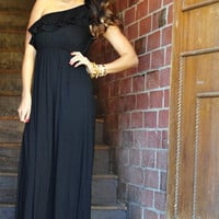 Fit For Perfection Maxi Dress: Black | Hope's