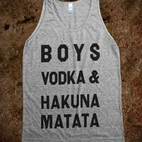 Boys Vodka And Hakuna Matata - Spring Breaker