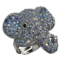 Max & Chloe - Andrew Hamilton Crawford Crystal Elephant Ring - Max and Chloe