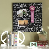 Graphic Words Pin-It Pinboard