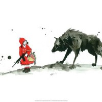 Red Riding Hood Print by Lora Zombie